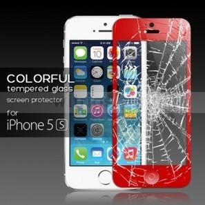 Tempered Glass Protective Film with Home Button Sticker for Apple iPhone 5S Red - Witrigs.com | Do iphone 5s need screen protectors | Scoop.it