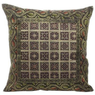 eyesofindia.com - Pillow Cushion Cover with Stunning Floral Brocade Work | eyesofindia | Scoop.it