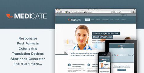 Medicate - Responsive Medical and Health Theme   Medical wordpress themes   Scoop.it