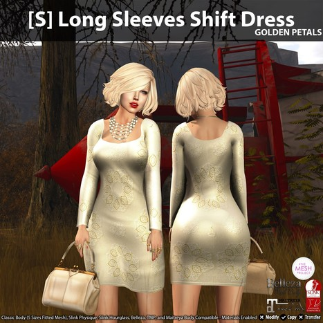 New Release: [S] Long Sleeves Shift Dress by [satus Inc] | Teleport Hub - Second Life Freebies | Second Life Freebies | Scoop.it