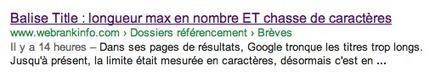 Balise Title : longueur max en nombre ET chasse de caractères | webmarketing seo referencement analytique | Scoop.it
