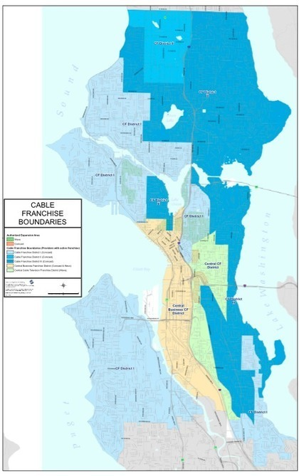 Seattle City Council eliminates cable TV franchise districts, aiming for more competition   Taylor Soper   GeekWire   Surfing the Broadband Bit Stream   Scoop.it