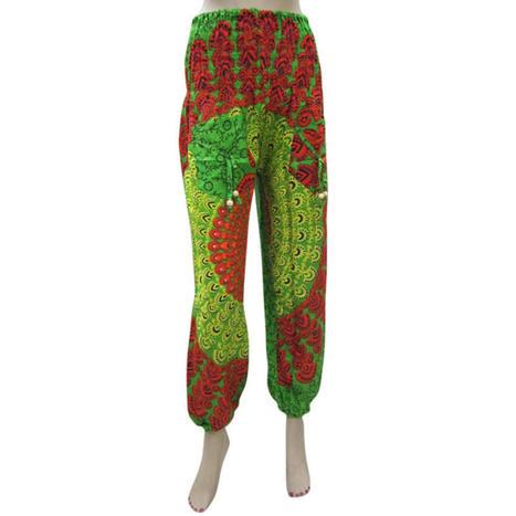 moguinterior Harem Pants Mandala Print Lime Green Color Hippy Pocket Loose Yoga Pants - Clothing - Women's - Pants | Bohemian Harem Pant | Scoop.it