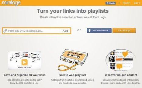 Minilogs, crea playlists con audio y vídeo de los sitios más populares y compártelas con el mundo   Tic, Tac... y un poquito más   Scoop.it