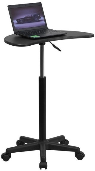 Laptop computer carts on wheels-Height Adjustable Mobile Laptop Computer Desk with Black Top | Sales & Clearance | Fitdango.com | Fitness Promotions | Scoop.it