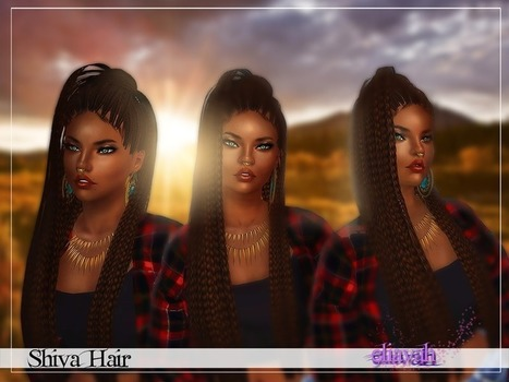 Shiva Hair by Eliavah by -- select a Website -- | Sims 3 Downloads | Scoop.it