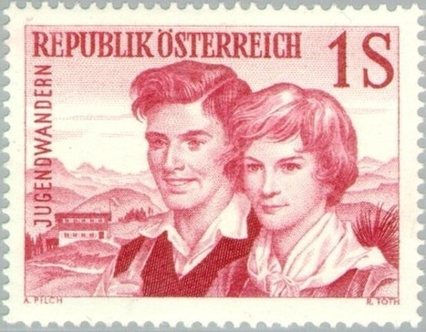 Youth couple – Michel AT 1076 | Philately, Books & Comics | Scoop.it