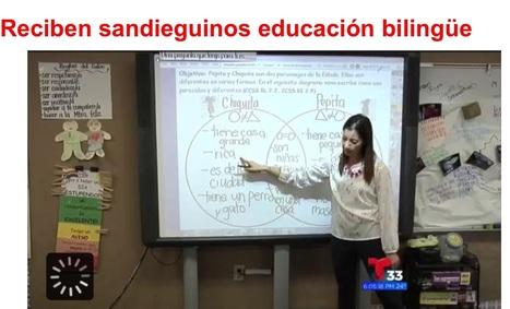 Reciben sandieguinos educación bilingüe - Telemundo 33 | (De)constructing bilingualism | Scoop.it