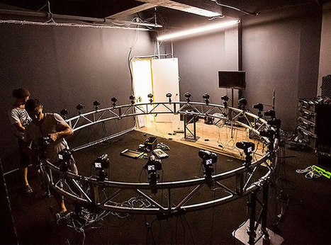 """Project Uses a """"Bullet Time"""" Camera Rig for 360-Degree Light Painting Portraits 