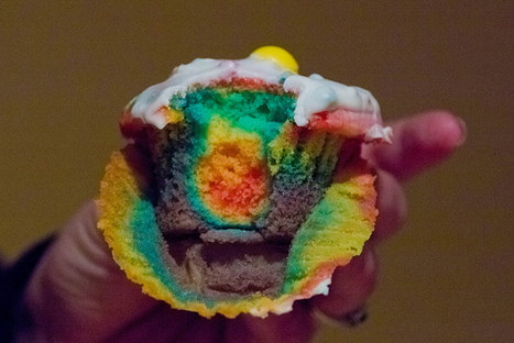 Super Easy Rainbow Cupcakes | Easy Cake Decorating Ideas | Fab Finds | Scoop.it