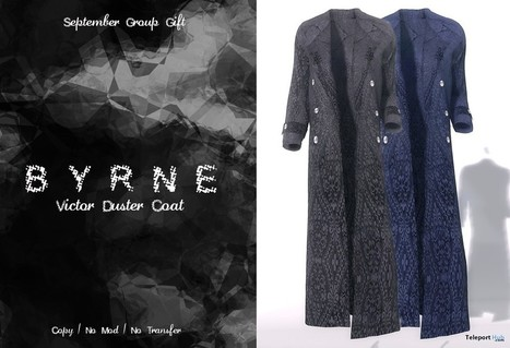 Victor Coats For Men Group Gift by BYRNE Boutique | Teleport Hub - Second Life Freebies | Second Life Freebies | Scoop.it