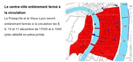 Lyon 8 Décembre: le plan officiel de circulation | Tourisme en pays viennois | Scoop.it