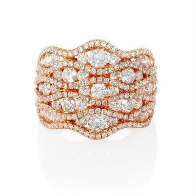 Diamond 18k Rose Gold Ring | Riveting Rings | Scoop.it