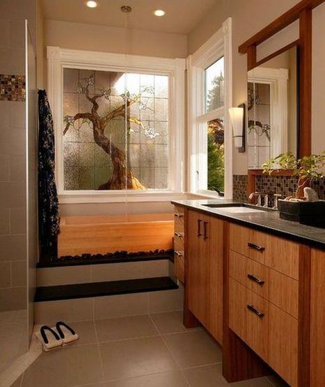 18 Stylish Japanese Bathroom Design Ideas | Designing Interiors | Scoop.it