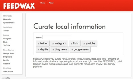 Curate Local Information With FeedWax | Technology | Scoop.it