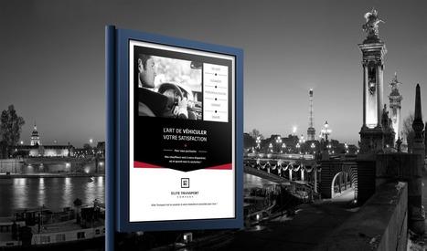 Création d'un flyer Elite Transport Company | Agence web AntheDesign | Scoop.it