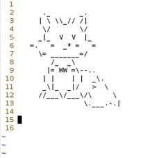 ASCII Art Fox by GaussianCat on DeviantArt | ASCII Art | Scoop.it