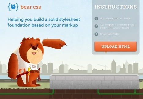 Bear CSS – L'outil qui vous prémâche le CSS | Time to Learn | Scoop.it