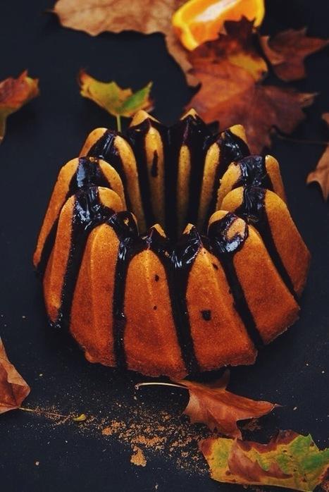 Bundt cake à l'orange et aux épices & glaçage au chocolat | Travaux Manuels | Scoop.it