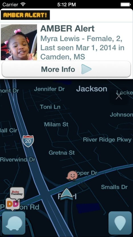 Waze - Official Blog: Waze Integrates AMBER Alerts To Help With Child Abductions | Prozac Moments | Scoop.it