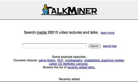 TalkMiner - search for video lecturers and talks | Into the Driver's Seat | Scoop.it