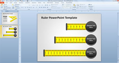 Download Free Ruler PowerPoint Template with Editable Shapes   PowerPoint Presentation   ScoopitExplorer   Scoop.it