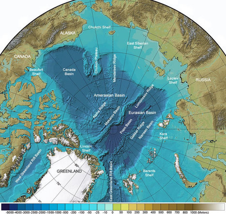 Arctic Ocean Seafloor Map: Depth, Shelves, Basins, Ridges | Geology | Scoop.it