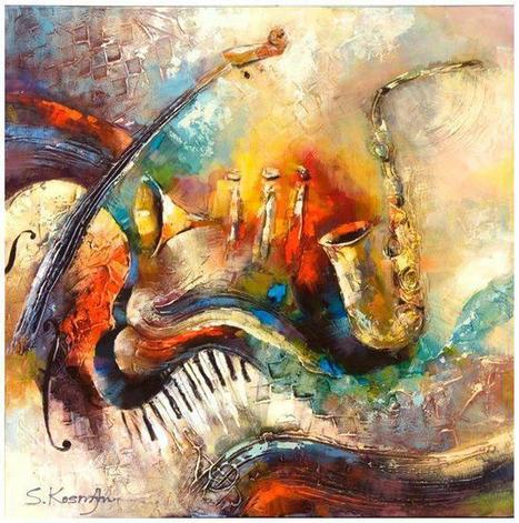 How many Instruments do you see?<br/><br/>Artwork by Shaul Kosman | Best Urban Art | Scoop.it