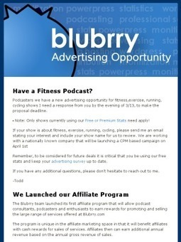 Blubrry Launches Affiliate Program & Fitness Podcast Advertising Campaign | Podcasts | Scoop.it