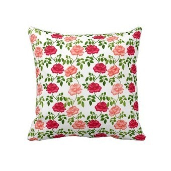 Little English Tea Roses Pillow from Zazzle.com | Pillows | Scoop.it