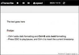 oTranscribe. Transcrire un fichier audio - Les Outils Tice | les docs | Scoop.it
