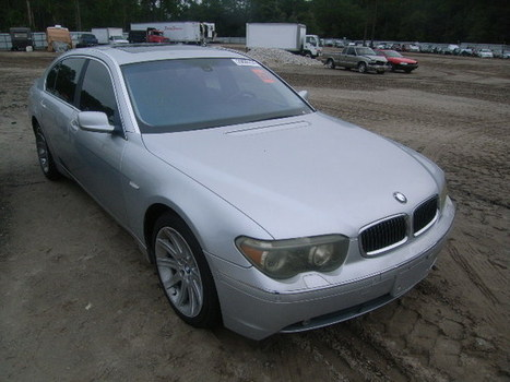 Salvage 2003 silver Bmw 745Li with VIN WBAGN634X3DR14400 on auction | VEHICLES on Auction | Scoop.it