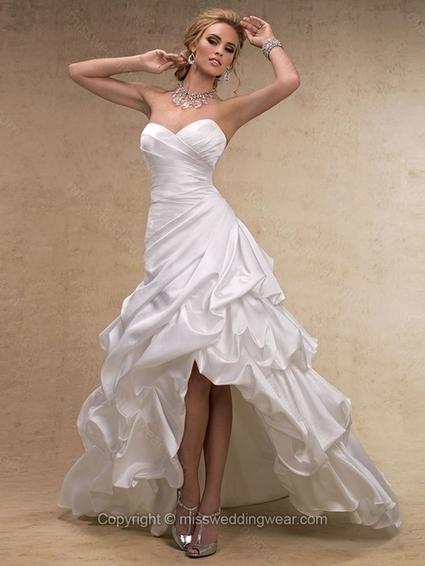 A-line Sweetheart Satin Asymmetrical Pick-Ups Wedding Dresses   2014 wedding dress online   Scoop.it