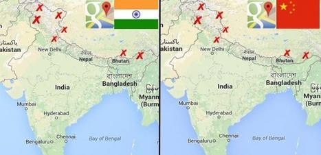 Google Maps, des frontières à la carte pour ne froisser personne | Des liens en Hist-Géo | Scoop.it