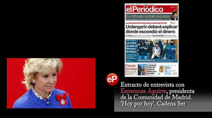 Aguirre confunde a policías infiltrados con sindicalistas violentos - El Periódico de Catalunya | Partido Popular, una visión crítica | Scoop.it