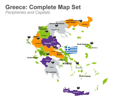 Greece Map - Apple Keynote Map Slides   The Collapse of Ancient Rome and Greece   Scoop.it