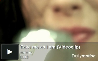 "Vê o novo post: Mei-Ming - ""Take me as I am"" ... 