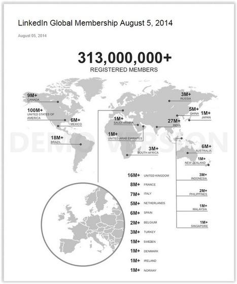 Linkedin va bientôt doubler Viadéo en France ! | Linkedin marketing | Scoop.it