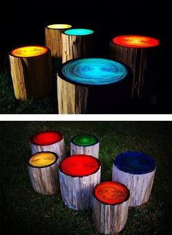 Garden stools glow in the dark | JOIN SCOOP.IT AND FOLLOW ME ON SCOOP.IT | Scoop.it