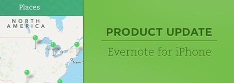 Evernote pour iPhone et iPad propose à présent l'affichage par lieux, la personnalisation de l'écran d'accueil et bien plus encore | Evernote | Scoop.it