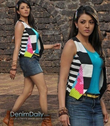 Kajal Agarwal In Denim Skirt | Denim Daily | Denim Daily | Scoop.it