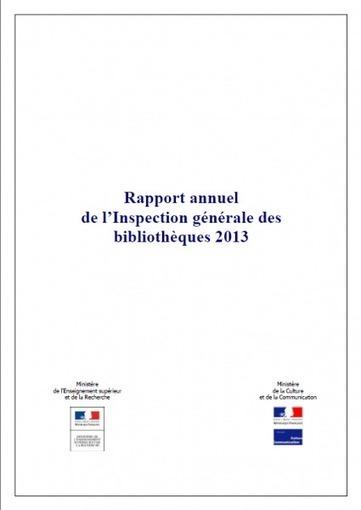 Inspection générale des bibliothèques : rapport 2013 - Enssibrèves | Preparation concours assistant | Scoop.it