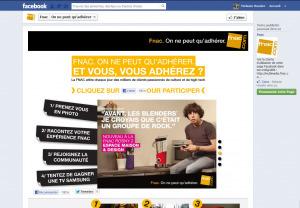 FNAC accompagne sa nouvelle campagne sur facebook   Facebook pour les entreprises   Scoop.it