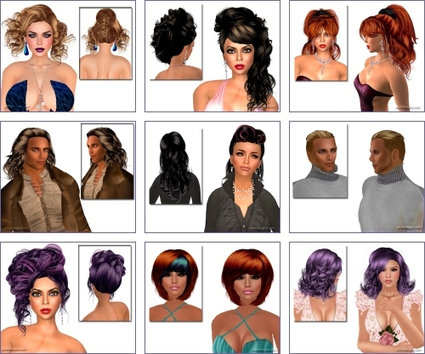 Free Hairstyles 58 | Second LIfe Good Stuff | Scoop.it