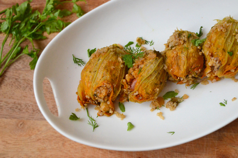 Herb and Quinoa Stuffed Zucchini Blossoms | My Vegan recipes | Scoop.it