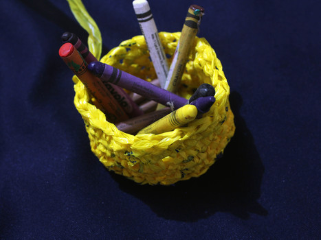 How to Prepare Plastic Bags for Knitting or Crochet   Market Day Ideas   Scoop.it