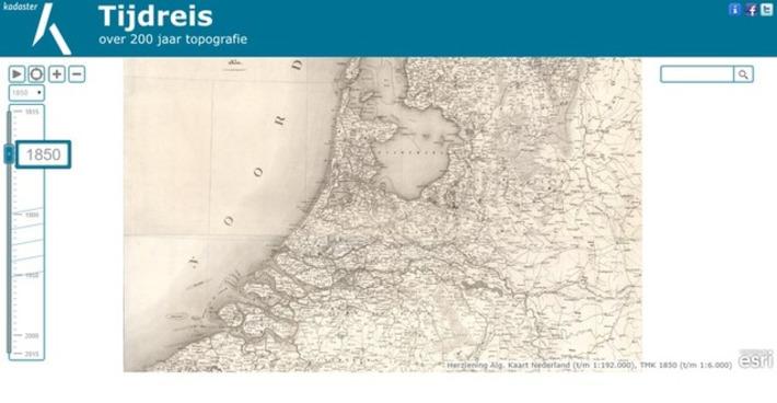 Edu-Curator: Tijdreis, over 200 jaar topografie: Kaarten van Nederland tussen 1815 en 2015 | Educatief Internet - Gespot op 't Web | Scoop.it