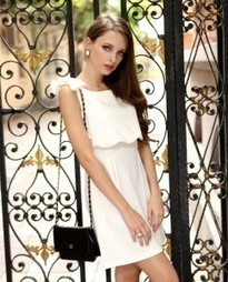 Bowknot Decorate High Waist Two Piece Dresses Red White Black | wsoftlink2 | Scoop.it