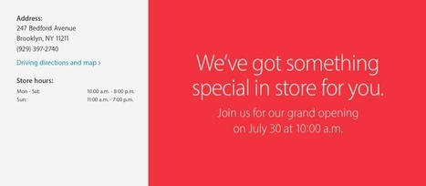 Apple announces first Brooklyn store will be opening doors to customers on July 30 | iPhoneography-Today | Scoop.it