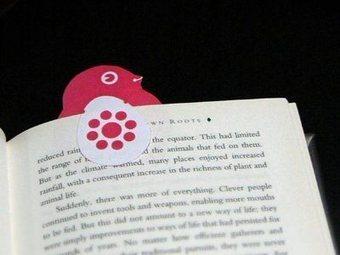 Folding Trees » Chick bookmark | Petits carnets, livres et boites à secrets... | Scoop.it